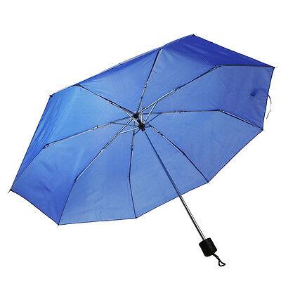 "COSTWAY Folding Rain 42"" Umbrella Portable Compact W/Sleeve Blue New"