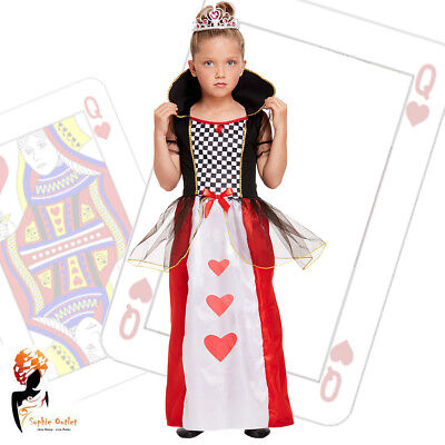 Queen Fairy Costume (Girl Lost in Forest Fairy tale Queen of Heart Fancy Dress World Book Day)