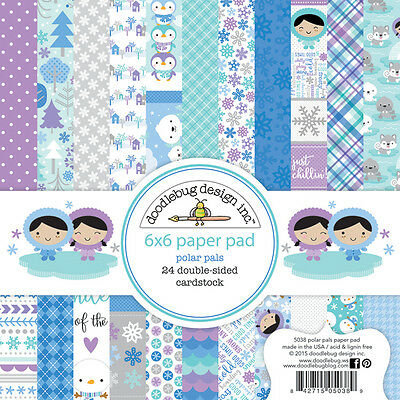Scrapbooking Crafts Doodlebug 6X6 Paper Pad Polar Pals Snowflakes Purple Blue](Scrapbook Paper Crafts)