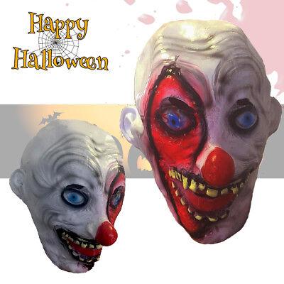 EVIL Full Face Scary Clown Joker Scars Latex Mask Halloween Fancy Dress Costume