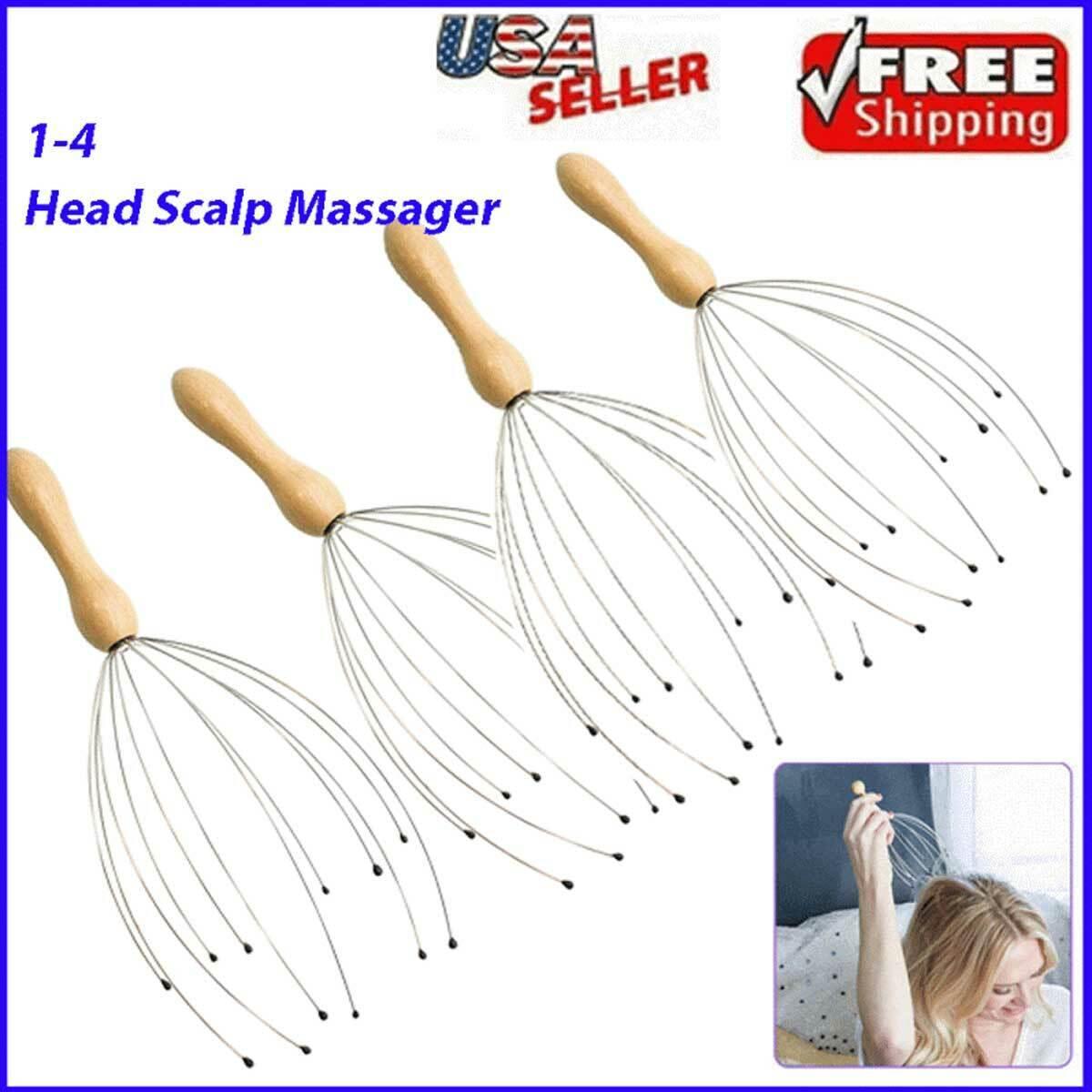 Head Massager Scratcher Neck Massage Scalp Relax Calm Stress Relief Octopus Health & Beauty