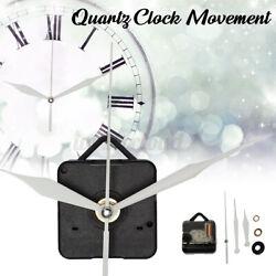 Silent Quartz Wall Clock Spindle Movement Mechanism Part Repair Tool White Hand