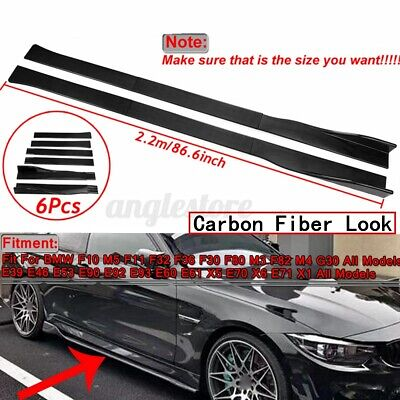 86.6'' Carbon Fiber Side Skirts Rocker Panel Splitters For BMW F30 F80 M3 F82 M4