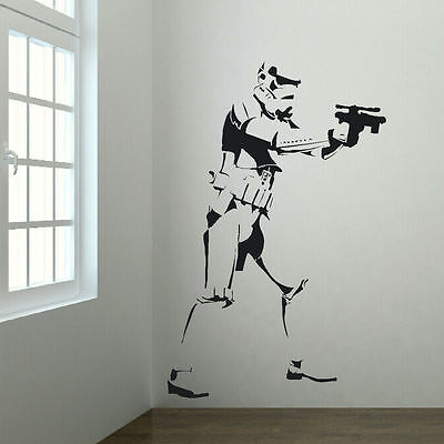 Star Wars themed Bedroom wall sticker Life size up to 6ft Storm Trooper Transfer