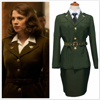 The First Avengers Captain America Agent Peggy Carter Cosplay - Peggy Carter Cosplay Kostüm