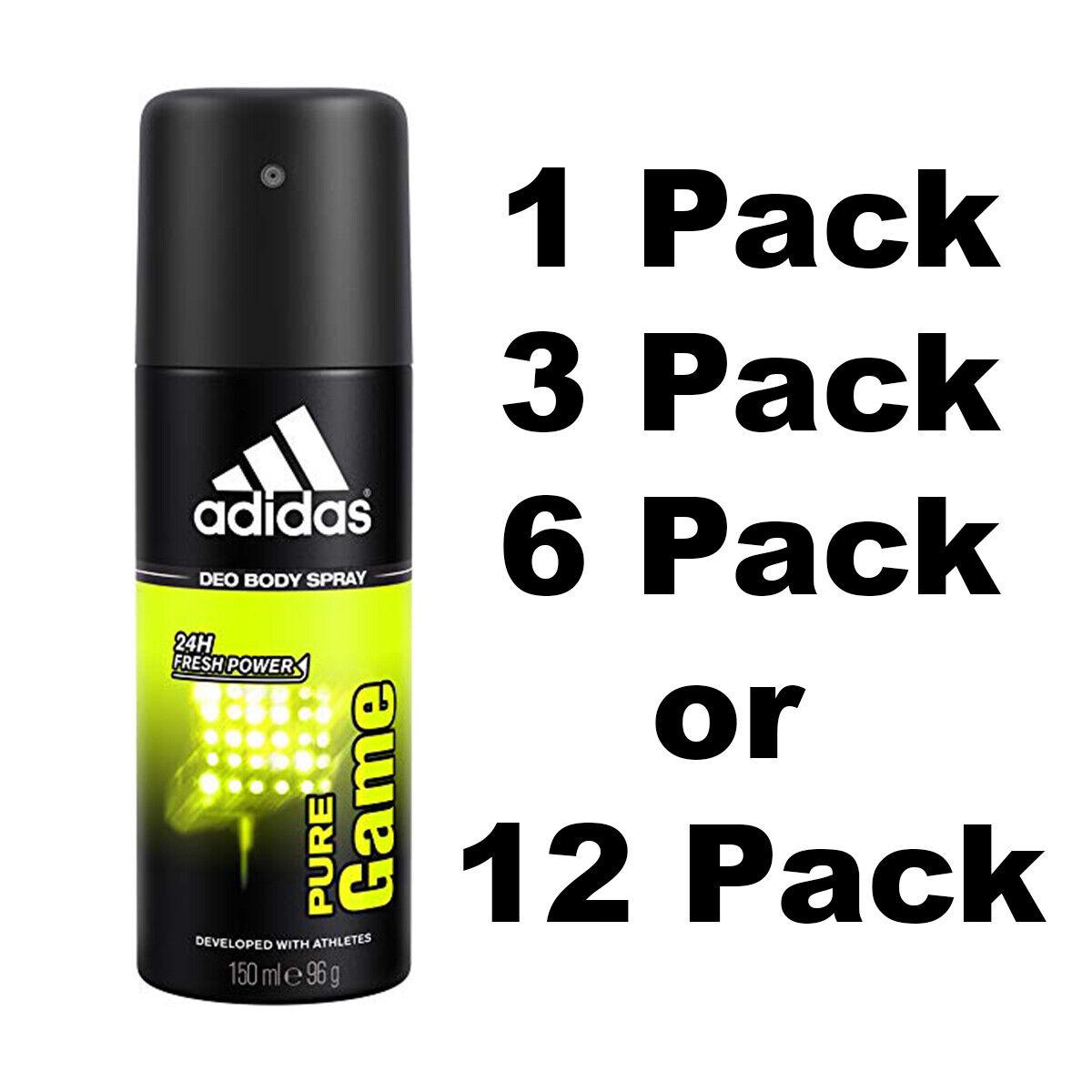 Adidas PURE GAME Deodorant 24H Fresh Men Body Spray 150 ML S