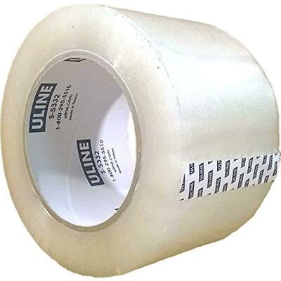 4 Rolls Uline S-5332 Heavy Duty Packing Tape 3 X 110 Yd 2.6 Mil Crystal Clear