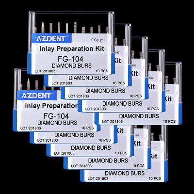 200 Sets Dental Diamond Handpiece Burs Fg-104 For High Speed Handpiece 10kit Fd