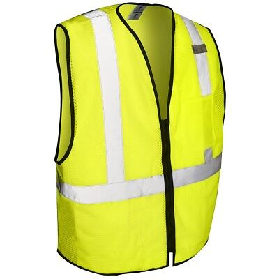 Ml Kishigo Class 2 Reflective Mesh Safety Vest With Pocket Yellowlime