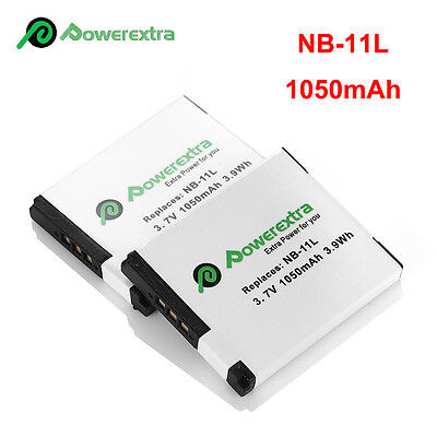 2 Pack NB-11L NB-11LH Battery for Canon PowerShot SX410 SX400 IS ELPH 320 340 (11l Battery Pack)