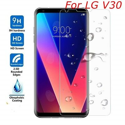 For LG V30 Screen Protector Tempered Glass Anti-Scratch Guard (Clear Sheild)