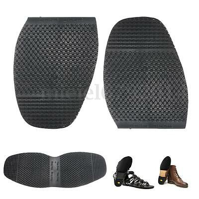 1 Pair Men Gentleman DIY Stick On Heels Soles Shoe Repair Anti-Slip Rubber Grip