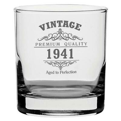 Vintage 1941 80th Geburtstag Traditionell Whisky Glas