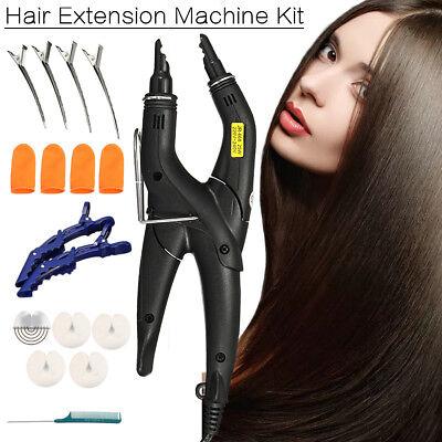 Pro 220℃ 25W Wärmezange Connector für Haarverlängerungen Extensions Echthaar Set