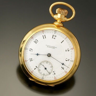 ANTIQUE 18K GOLD E. HOWARD & CO. SERIES 8 POCKET WATCH CA1880S 15 JEWEL 18 SIZE