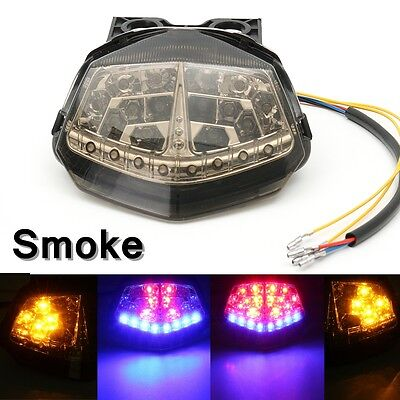 Smoke Brake Tail Light Turn Signals LED Integrated For KAWASAKI Ninja 250R 08-12
