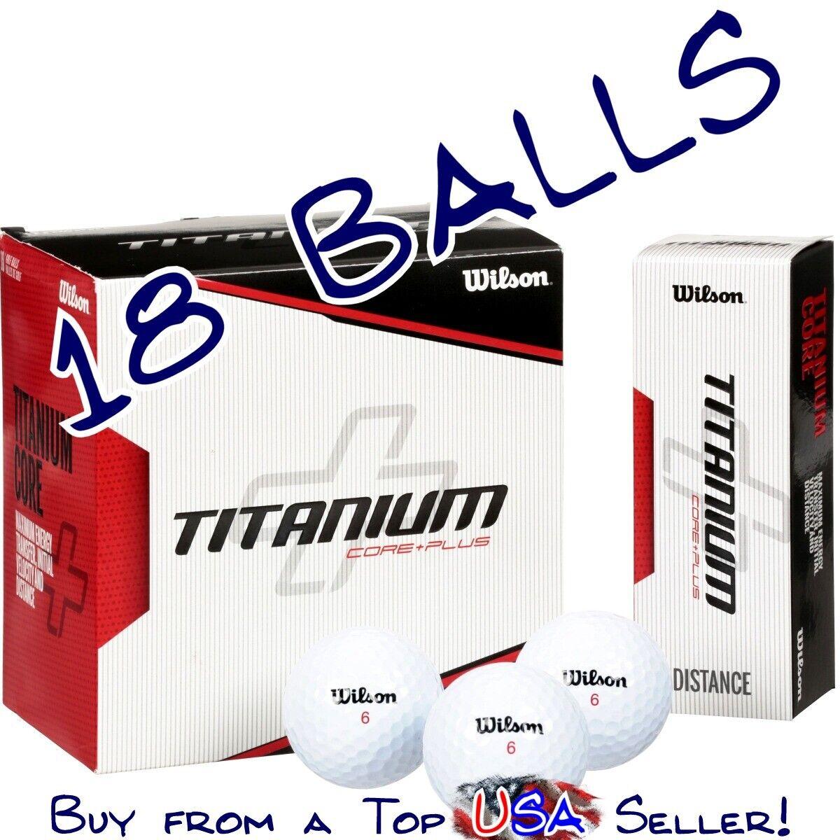 NEW~~~ Wilson Titanium Core Plus Distance 18 Golf Balls with