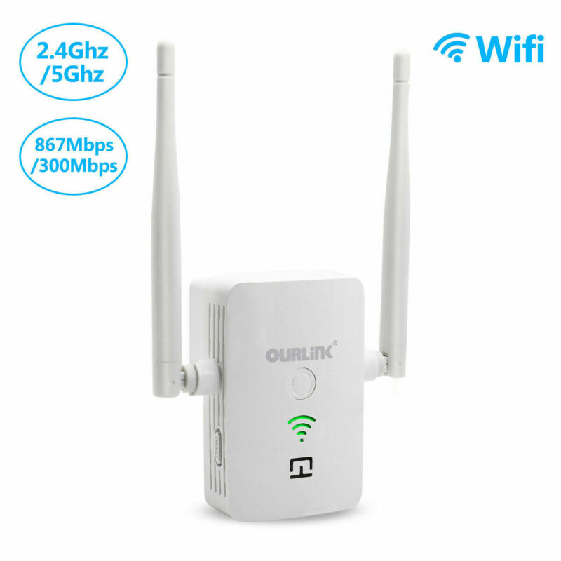 1200Mbps WiFi Range Extender Repeater Wireless Amplifier Router Signal Booster A