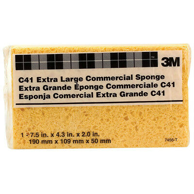 """3M C41 Heavy Duty Commercial Cellulose Sponge, 7.5"""" x 4.3"""", Extra Large"""