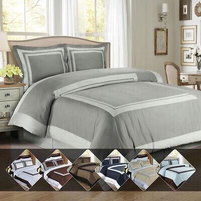 Hotel 100% Cotton Comforter Cover Set Luxury Soft Duvet Cover + Pillow Shams Cotton Comforter Duvet Set