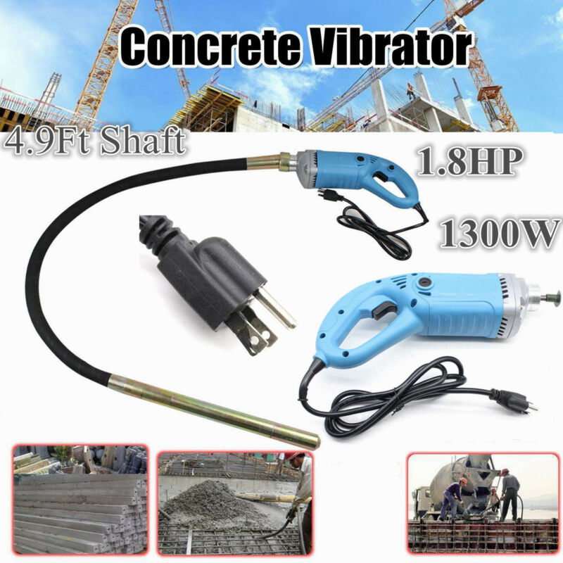 1.8HP Electric Power Concrete Vibrator Tool Cement Finishing Bubble Remover1300W