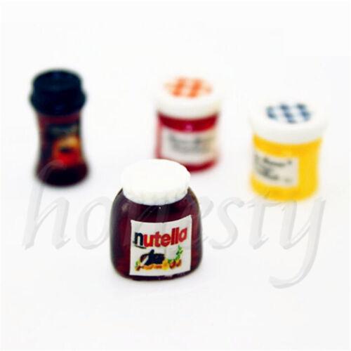 Купить 1pc Dollhouse Miniature 1:12 Kitchen Food Jam Coffee Condiment Random DIY Decor
