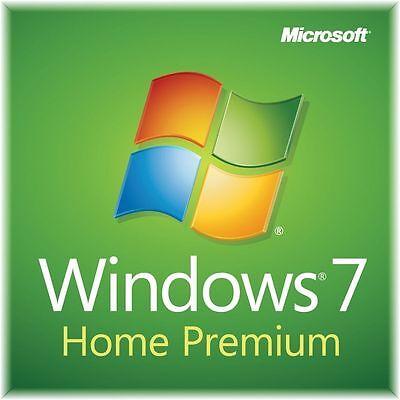 Microsoft Windows 7 Home Premium 32 64 Bit Full Version Sp1   Product Key