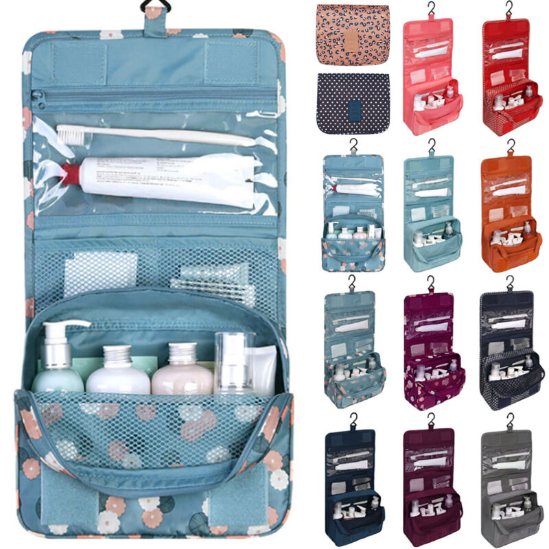 Women Foldable Case Hanging Cosmetic Make Up Bag Pouch Toile