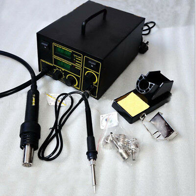 750w 2-in-1 Hot Air Rework Station Soldering Iron Hot Air Gun Welder Kit