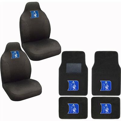 New NCAA Duke Blue Devils Car Truck Seat Covers & Front Back Carpet Floor Mats Devils Carpeted Car Mats