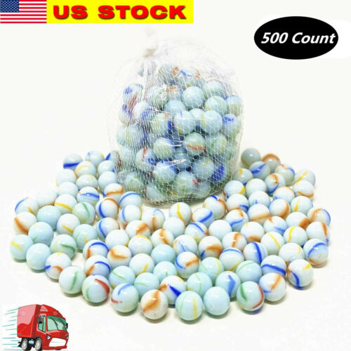 """Lot of 500 Glass Marbles 6 lb Glass 5/8"""" 16mm Bulk Wholesale Toy Sling Shot Ammo"""