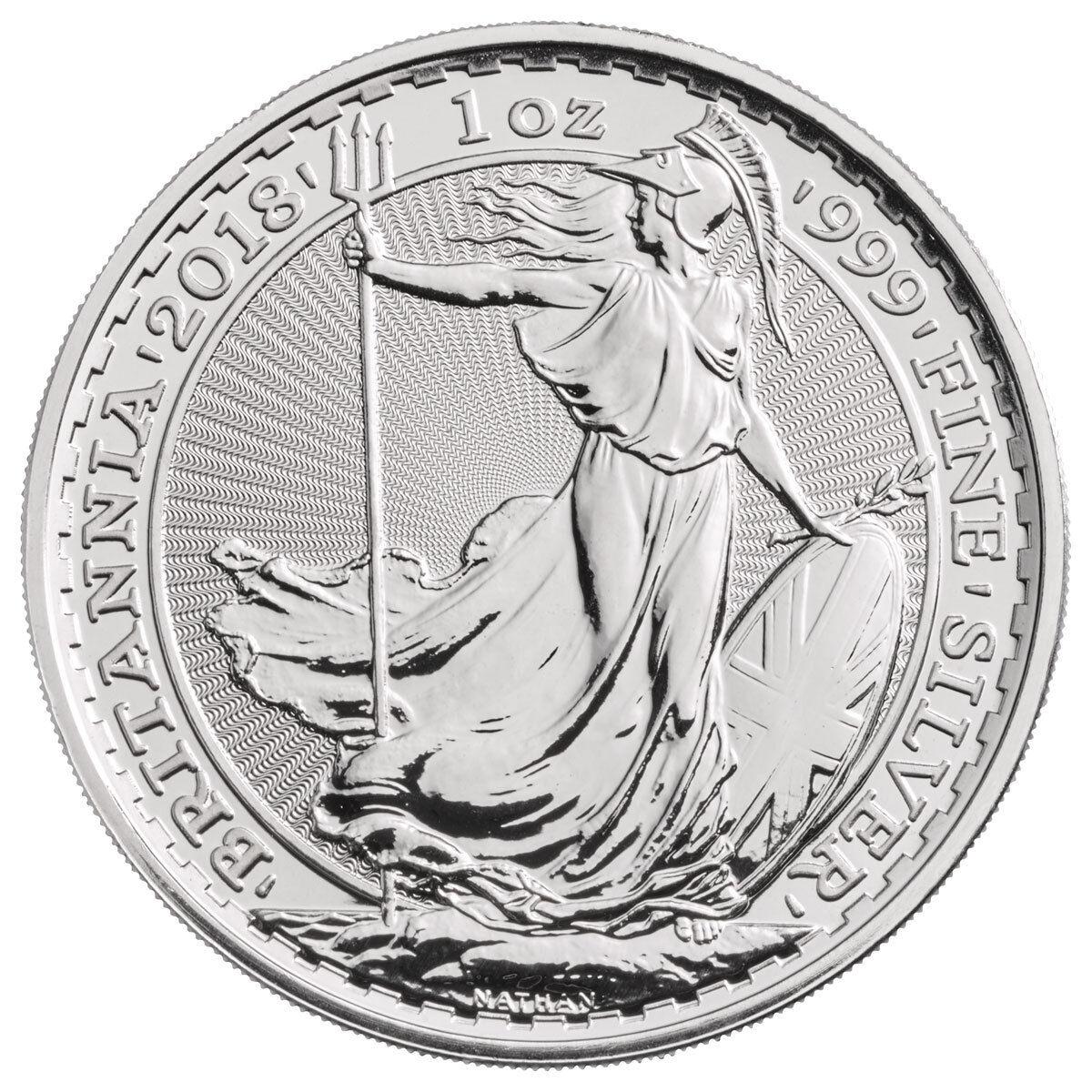 Купить 2018 Great Britain 1 oz Silver Britannia £2 Coin GEM BU SKU49809