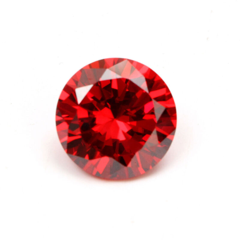 2pcs Imitation Round Cut Unheated Stunning Red Sapphire Loose Gemstone Jewelry
