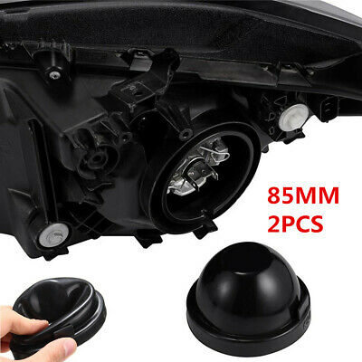2Pcs 85mm Rubber Bowl Seal Cap Closed Cell Covers For Car Headlight Bulb Housing