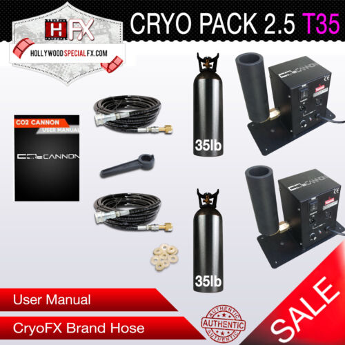 CryoPack2.5-T35 DMX 512 Switchable Cryo Co2 Jet with Tank - Fog Blast - CP2T35