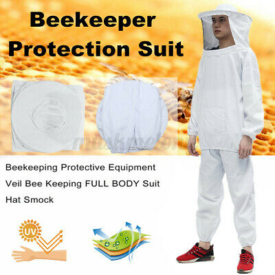Thick Beekeeper Protect Bee Jacket Keeping Suit Safty Veil Hat Body Equipment