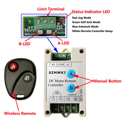 Switchable Dc Motor Linear Actuator Wireless Remote Forward Reverse Controller