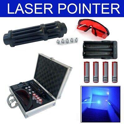 Military High-powered Blue Laser Pointer Pen Lazer 450nm Visible Beam Lightbox