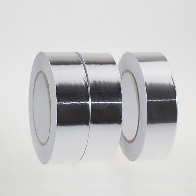 50m2cm Heat Shield Flame Resistant Aluminum Foil Tape Adhesive Sealing Tape