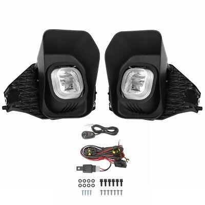 2PCS Clear Fog Lights For 2011-2016 F250 350 450 550 Super Duty w/ 9005 bulbs