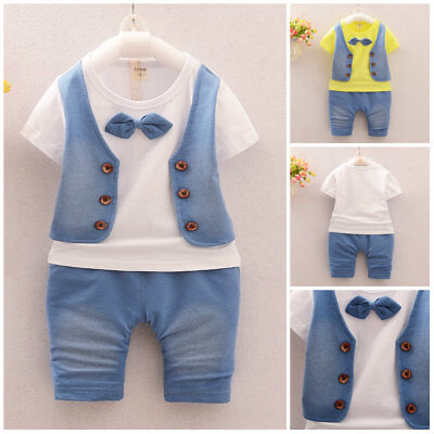 Baby Boys Gentleman clothes Sets Kids party Clothes For School Birthday Suits](Suits For Children Boys)