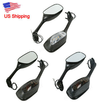 Motorcycle Rearview Mirrors LED Turn Signal For Suzuki GSXR600 750 2006-2015 06 Suzuki Gsxr600 Motorcycle