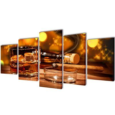 """Canvas Modern Wall Decor Art Painting Picture Print Framed Whiskey and Cigar 39"""""""