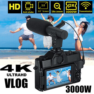 KOMERY 4K Ultra HD Camcorder Video Wifi Camera For Vlogging YouTube Night Vision