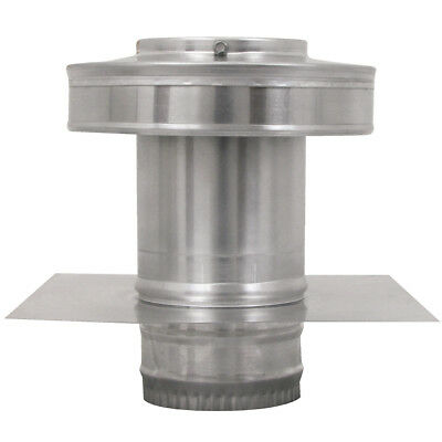 4 In. Diameter Aluminum Round Back Roof Jack Vent Cap For Existing Duct Work