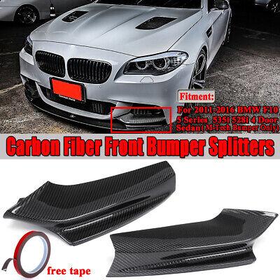 For 2011-2016 BMW F10 5 Series Sedan Carbon Fiber M Sport Front Bumper Splitter