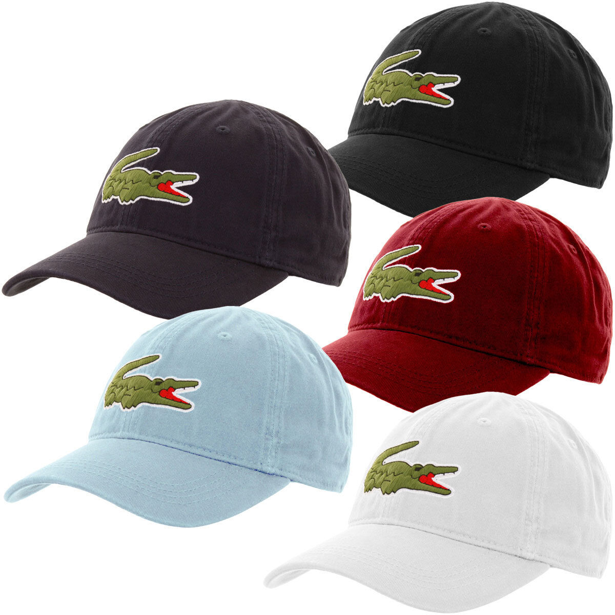 New Lacoste Men s Big Croc Gabardine Cap Dadhats - One Size hat RK8217-51  фото b687c57a4195