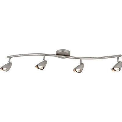 Brushed Steel Adjustable 4 Light Spot Ceiling Fixture ()