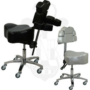 Tattoo adjustable ergonomic ink stool chair chest rest for 2 chairs tattoo