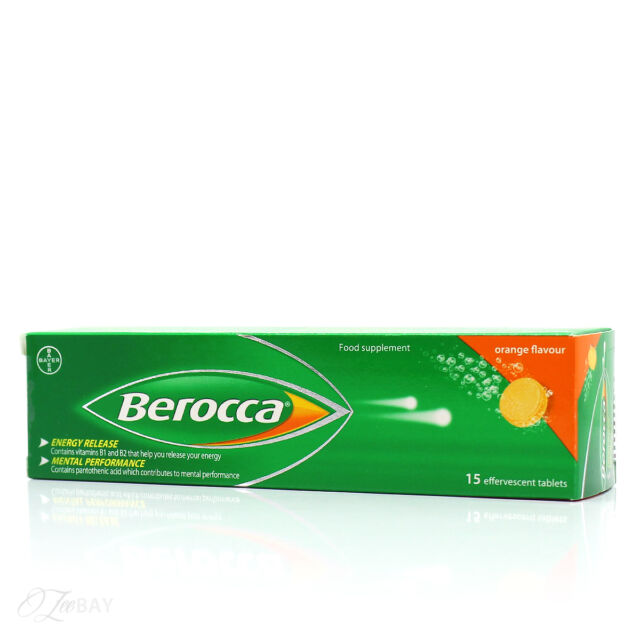 Berocca 15 Orange Flavour Effervescent Tablets